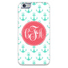 iPhone 6 Case - Mint Anchors