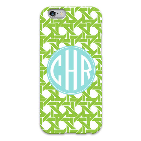 Monogram iPhone 6/6 Plus Case - Basketweave