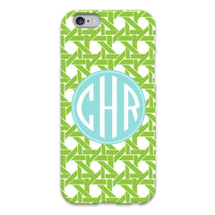 Basketweave iPhone Case - Lime