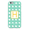 Basketweave iPhone Case - MInt