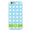 Basketweave iPhone Case - Sky