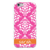 Damask iPhone Case - Pink