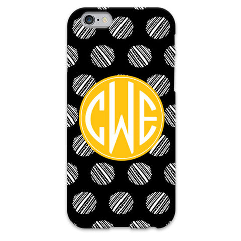 Monogram iPhone 6/6 Plus Case - Stripe Dots