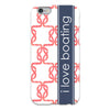 coral color monogram iphone case