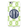 lime monogram cell phone case