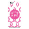 hot pink monogram cell case