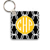 black lattice keychain