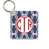 navy lattice keychain