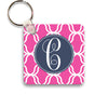 pink lattice keychain