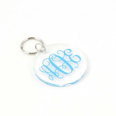 Acrylic Monogram Keychain clear with color monogram
