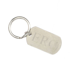 rectangle keychain with monogram