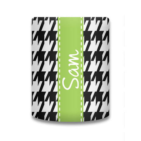 Monogram Can Koozie - Houndstooth