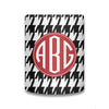 Houndstooth Monogram Koozie - Black