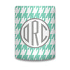 Houndstooth Monogram Koozie - Mint