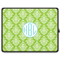 Damask Laptop Sleeve - Lime