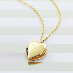 Gold Monogram Locket