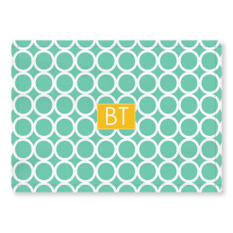 Woven Monogram Placemat - Hoopla