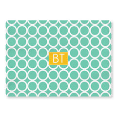 hoopla mint woven placemat
