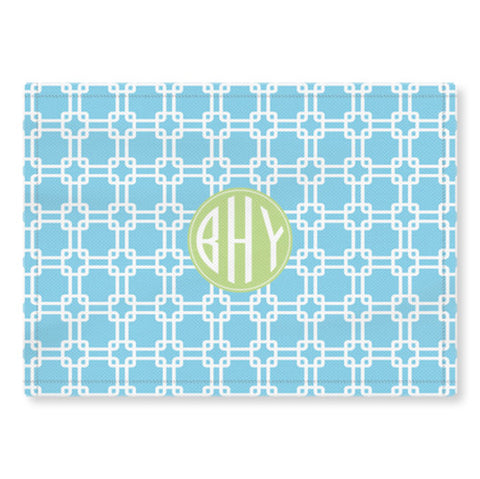 Woven Monogram Placemat - Links