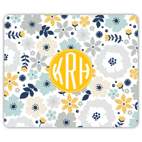 Monogram Mouse Pad - Blooms