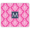 Damask Mouse Pad - Hot Pink
