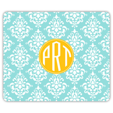 Monogram Mouse Pad - Damask
