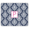 Damask Mouse Pad - Navy