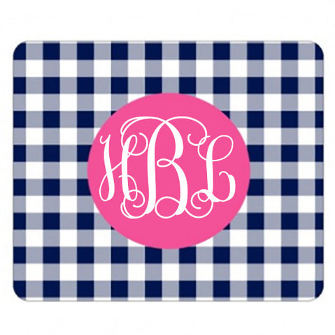 Monogram Mouse Pad - Gingham