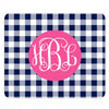 navy gingham mousepad
