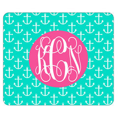 mint anchor mouse pad