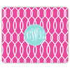Trellis Mouse Pad - Hot Pink