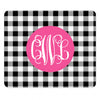 black gingham mousepad
