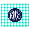 mint gingham mousepad