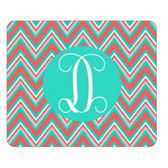 multi chevron mint mouse pad