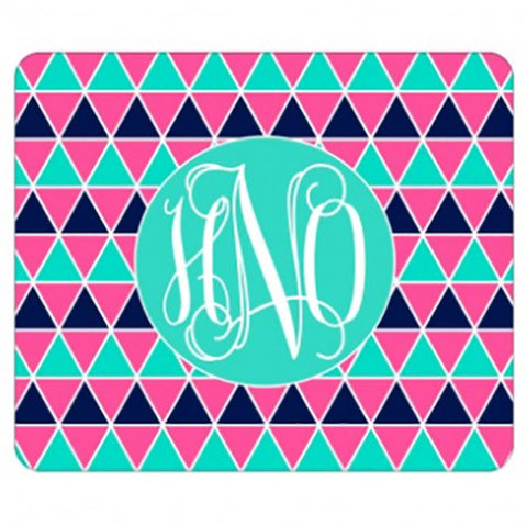 Monogram Mouse Pad - Triangles