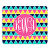 yellow monogram mouse pad