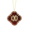 quatrefoil monogram necklace