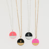 gold and silver colorblock necklace