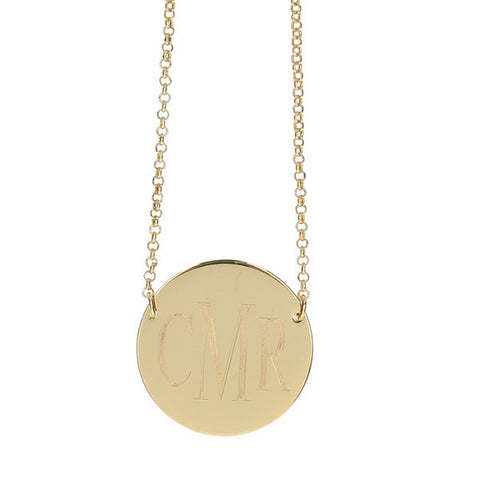 gold engraved necklace