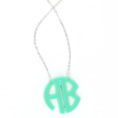 monogram 2 initial necklace