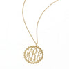 gold filigree neckace with scallop
