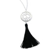 Silver Tassel Necklace With Scallop Pendant