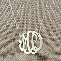 SIlver Monogram Necklace - Double Initial