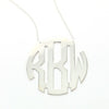 Monogram Circle Necklace - Extra Large