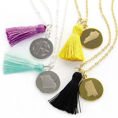 State Tassel Necklace