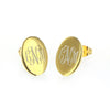 gold post oval earrings