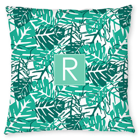 Monogram Throw Pillow - Palms