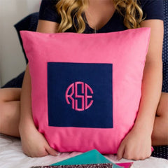 Monogram Pillow Cover - Pink