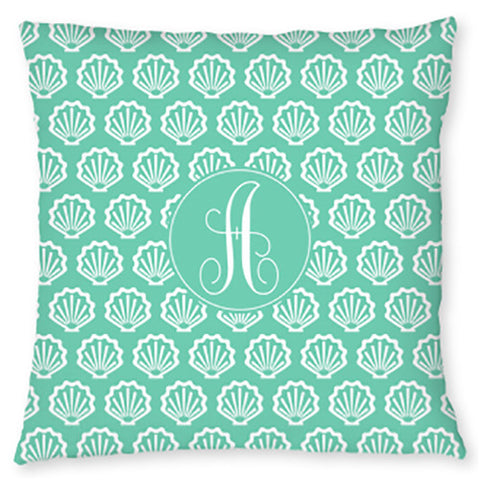 Monogram Throw Pillow - Shells