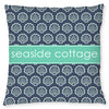 Shells Pillow - Navy